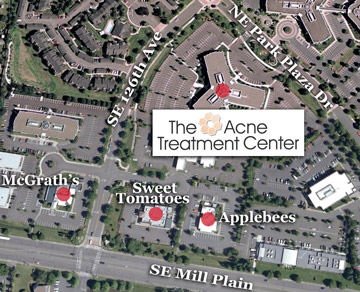 ariel map of acne treatment center