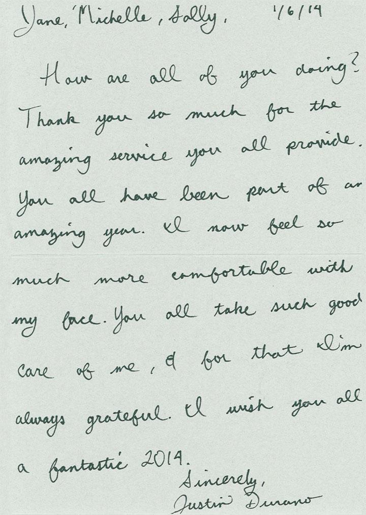 Acne Treatment Center Text Thank You